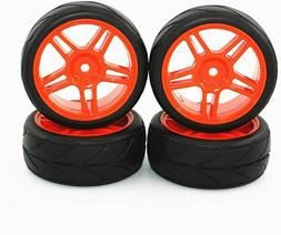 1/10 On Road Vehicles Wheel Tread Rubber Tires Rims Sets for