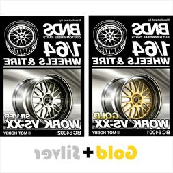 BNDS 1:64 alloy wheels rubber tires Gold & Silver Rim parts