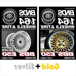 BNDS 1:64 Wheels Rubber Tires Alloy Rim parts for Model Moto