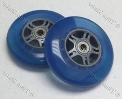 100mm BLUE Replacement Wheels with ABEC-9 Bearings for Titan