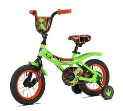 "Kent 12"" Boys Kids Dino Power Bike with Training Wheels For"