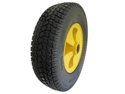 "12"" Flat Free Tire Solid Rubber 5/8 Axle For Cart Wagon Whee"