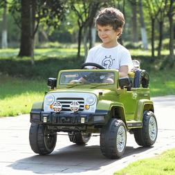 12V MP3 RC Battery Power Wheels Jeep Car Truck Kids Ride On