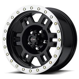 16X8 5X4.5 4.5BS MANX 398 GLOSS BLACK MACHINED LIP - VISION