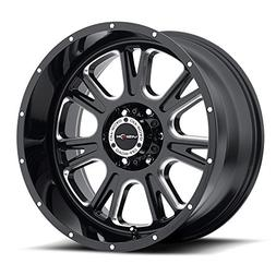 Vision Fury 20 Black Wheel / Rim 8x6.5 with a -25mm Offset a