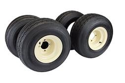 18x8.50-8 with 8x7 Tan Wheel Assembly for Golf Cart and Lawn