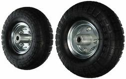"2 NEW 10"" AIR Tires Wheels 5/8"", No Tax, Free Ship"