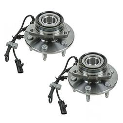2 Front Wheel Hubs & Bearings Pair Set w/ABS for Chevy GMC T
