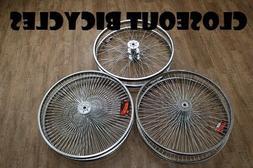 "2 Hollow Hub 26"" Bicycle Conversion Kit 36 or 144 Spoke Tric"