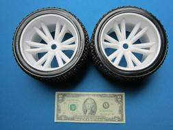 2 RC WHEELS & SOFT TIRE 1/8 TRUGGY TRUCK 17MM HEX 1/2 OFFSET
