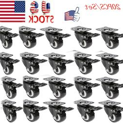 20 Pcs/Set Swivel Caster Wheels with Top Plate Bearing for C