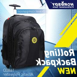 """20"""" Travel Laptop Backpack Business Luggage wheel Rolling Pu"""