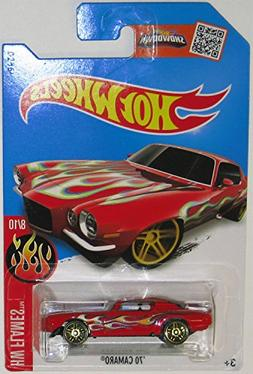 Hot Wheels 2016 H.W. Flames 70 Chevy Camaro Red 98/250