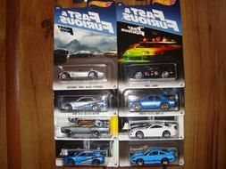 2017 Hot Wheels FAST & FURIOUS Complete Set of 8 Walmart Exc