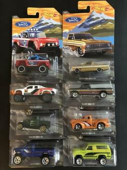 HOT WHEELS 2018 WALMART EXCLUSIVE FORD TRUCK SERIES SET 8 CA