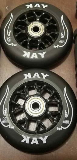 2x 100mm Replacement Scooter Wheels for Razor MGP Pulse Pro