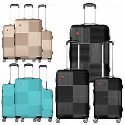 3-Piece Hardside Luggage Set with Spinner Wheels Lightweight
