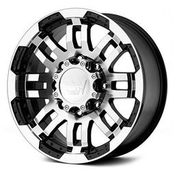 Vision 375 Warrior Gloss Black Machined Face Wheel with Mach