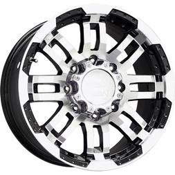 Vision 375 Warrior Gloss Black Wheel with Machined Face