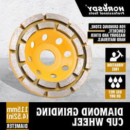 "4-1/2"" Diamond Cup Grinding Wheels Double Row Concrete 18 se"
