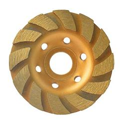 "4"" Concrete Turbo Diamond Grinding Disc Wheel 12 Segs Cup Ma"