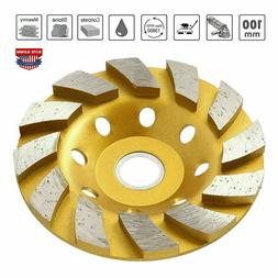 "4"" Diamond Segment Grinding Wheel Cup Disc Grinder Concrete"
