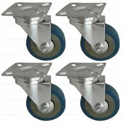 4 Pack 2'' Caster Wheels Swivel Plate Casters
