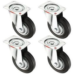 4 Pack 6-inch Swivel Caster Wheel, 360 Degree Plate, 331 lbs