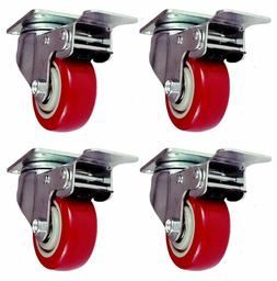 Online Best Service 4 Pack Caster Wheels Swivel Plate With B