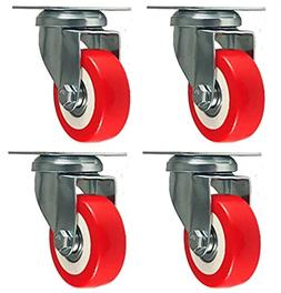 4 pack caster wheels swivel plate on