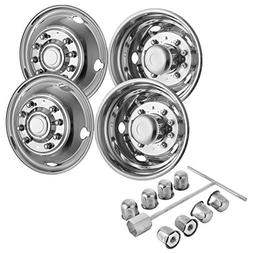 Mophorn 4 PCS of Wheel Simulators 19.5 Inch 10 Lug Hubcap Ki