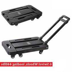 440LB Folding Hand Truck Dolly Collapsible Cart Luggage Trol