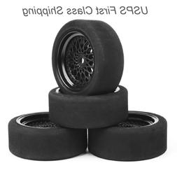 4PCS 66mm Foam Tires Wheel Rim For RV 1:10 Scale RC RV Recre