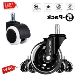 """5X Universal 3""""/2"""" Office Chair Casters Replacement Rolling"""