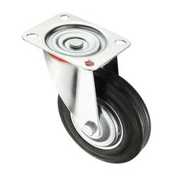 6-inch Rubber Swivel Caster Wheel, 360 Degree Top Plate, 331