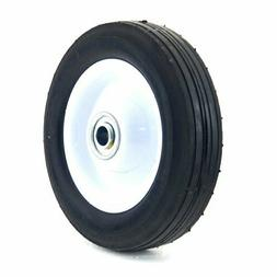 Arnold 6-Inch Steel Wheel with Ribbed Tread - 50lb. Load-Rat
