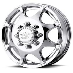 Vision 715 Crazy Eight Chrome Front Wheel with Chrome Finish