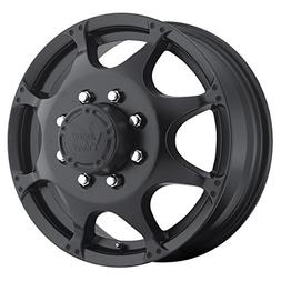 Vision 715 Crazy Eight Matte Black Front Wheel with Painted