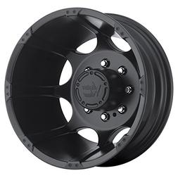Vision 715 Crazy Eight Matte Black Rear Wheel with Painted F
