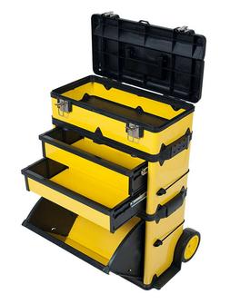 Stackable Toolbox Rolling Mobile Organizer with Telescopic C