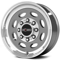 Vision 81 Hauler Gunmetal Machine Lip/No Rivets Wheel with M