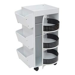 Studio Designs - Swivel Organizer Cart - White/black