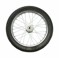 Arnold  16 in. Butyl Rubber  Wire Spoke Wheel  100 lb. 1 pk