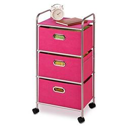 "Back to School Honey Can Do 35.5"" 3 Drawer Rolling Cart, Pla"