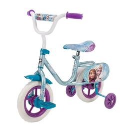 "Kids Bike Girls Disney Frozen Bicycle Blue Huffy 10"" Trainin"