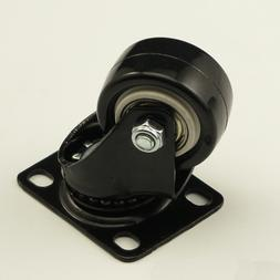 black office chair rubber swivel casters font