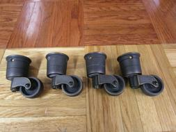 caster assembly bronze furniture wheels bronze cup
