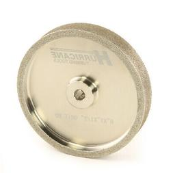 "Hurricane 6"" CBN Grinding Wheel, 80 Grit, 1.0"" Wide, 1/2"" Bo"