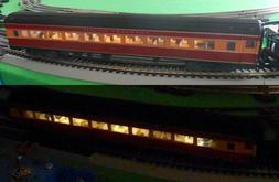 Complete HO Passenger car lighting system kit with Electric