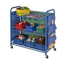 Honey-Can-Do CRT-03477 All Purpose Rolling Activity Cart, Bl